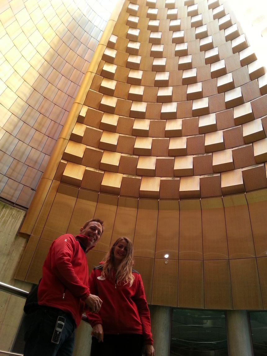 Violette et Frédéric Goullet, les guides de notre Baladeur à Vulcania