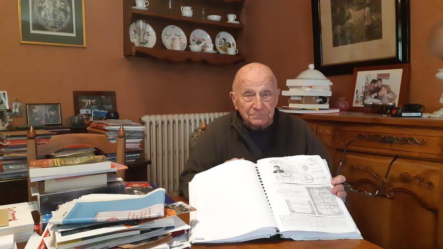 L'ancien résistant Roger Pruneau, engagé dans les FTP de l'Yonne à partir de 1943.