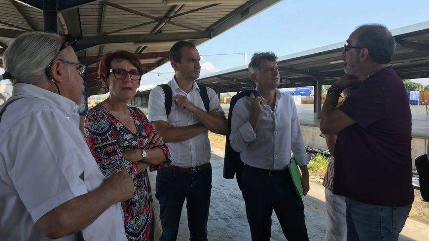 Le secrétaire national du parti communiste a fait le déplacement à Perpignan pour faire le point sur l'avenir du train des primeurs