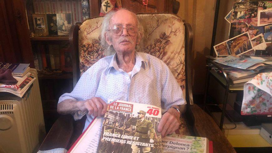 Roger Delonca, 95 ans, était à Perpignan au moment de la libération