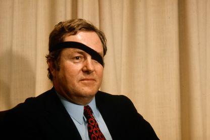 Jean-Marie Le Pen, en campagne électorale pour le premier tour des élections législatives en 1973.