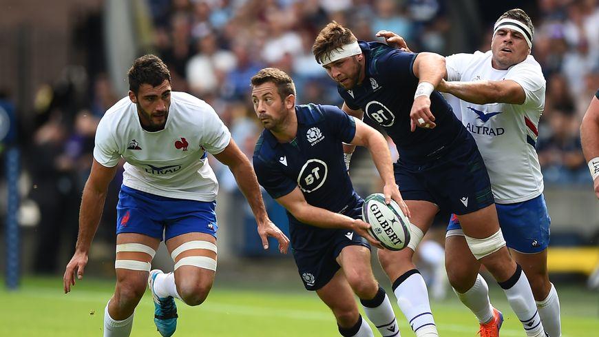 Les Français ont été bousculés par l'équipe écossaise.