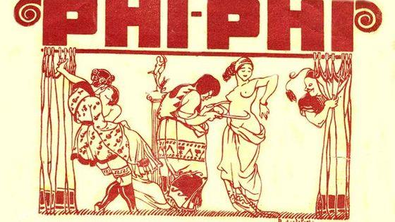 Affiche originale de l'opérette Phi Phii de Henri Chrstiné (1918)