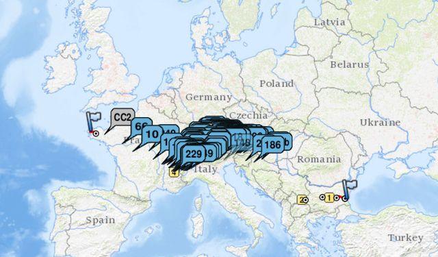 La course de 4 000 kilomètres reliait cette année la Bulgarie à Brest.