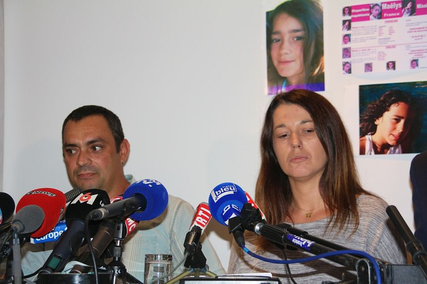 La première conférence de presse des parents de Maëlys,  en septembre 2017