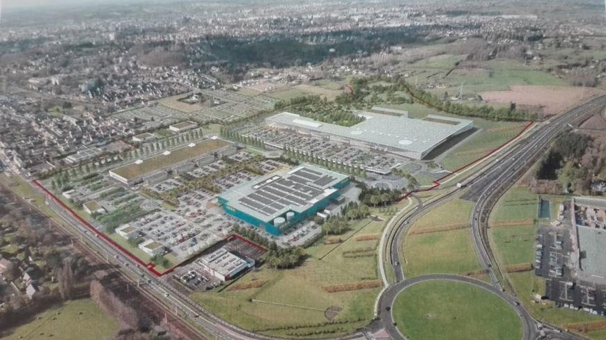 la future zone commerciale de Béner va accueillir un hypermarché Leclerc, 60 boutiques et Ikéa