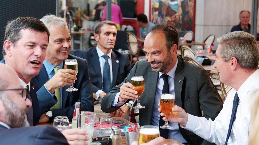 Philippe Chalumeau, Christophe Bouchet et Edouard Philippe lors des journées parlementaires LREM à Tours