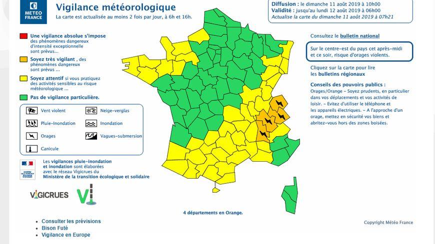 La Drôme placé en vigilance météo orange aux orages ce dimanche