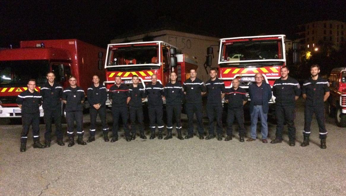 Une vingtaine de pompiers alsaciens en renfort dans le sud-est de la France