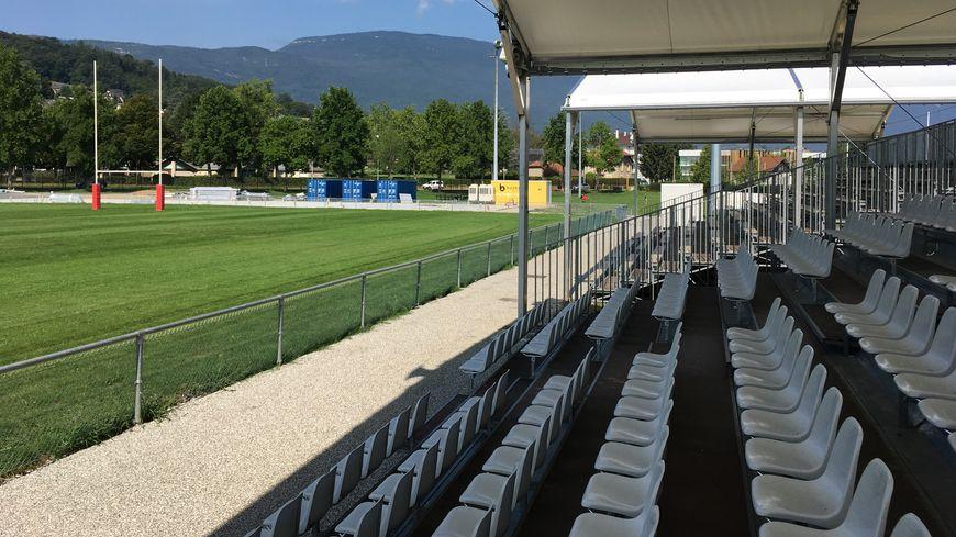 Le nouveau stade Mager, sur la plaine des jeux de Bissy, prend forme