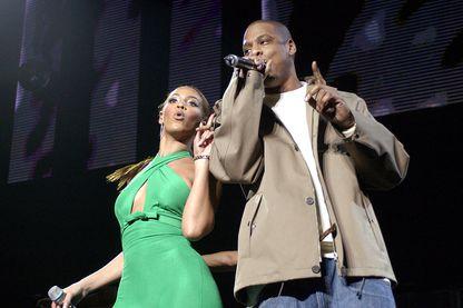 """Beyonce et Jay-Z, le couple qui règne sur la musique depuis le début des années 2000, vous avait fait bouger sur le tube """"Crazy in love"""", ici en 2003 au Madison Square Garden, New York"""