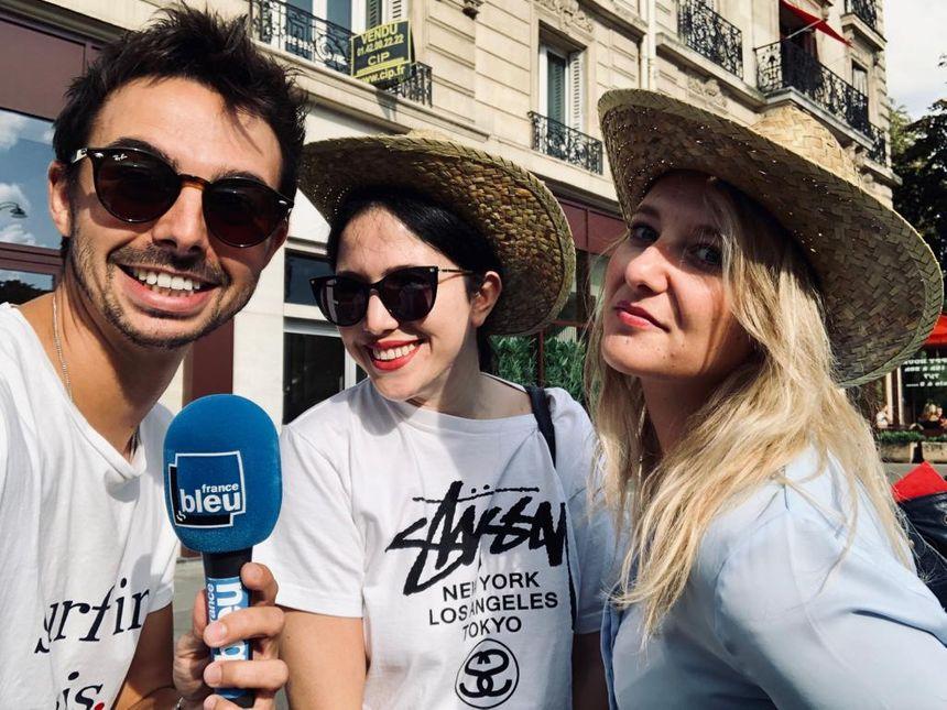 Ouassila et Candice, avec Quentin Lhuissier