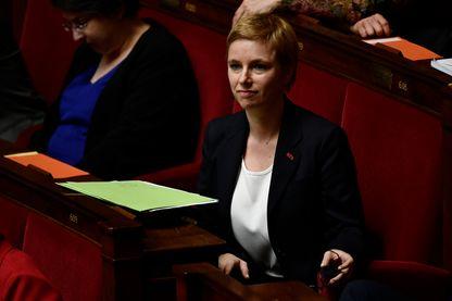La députée Clémentine Autain, à l'Assemblée nationale, en mars 2018.