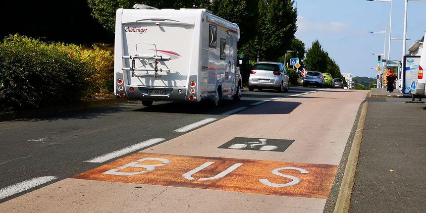 A Bayonne, les vélos peuvent rouler sur les voies de bus