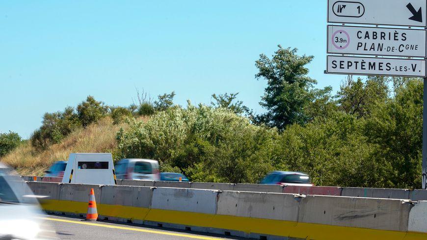 Un radar itinérant sur l'Autoroute A51 entre Marseille et Aix-en-Provence