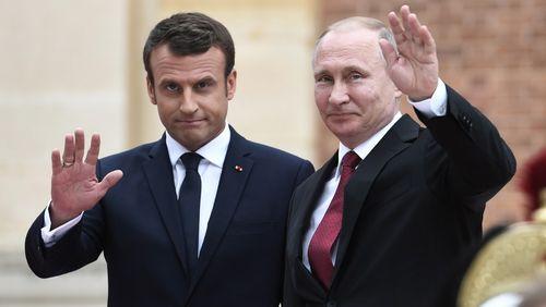 Ukraine, Syrie et Iran au menu des discussions Macron - Poutine