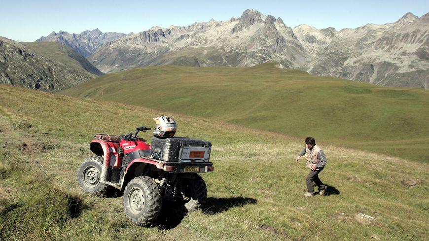 Le quad a fait une sortie de route entre Laruns et Gabas