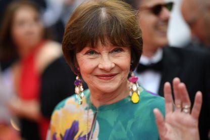 Macha Méril, actrice, auteure et romancière lors de la 72ème édition du Festival de Cannes, le 14 mai 2019.