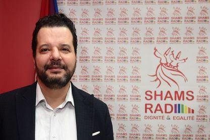 Mounir Baatour, décembre 2017, Tunis