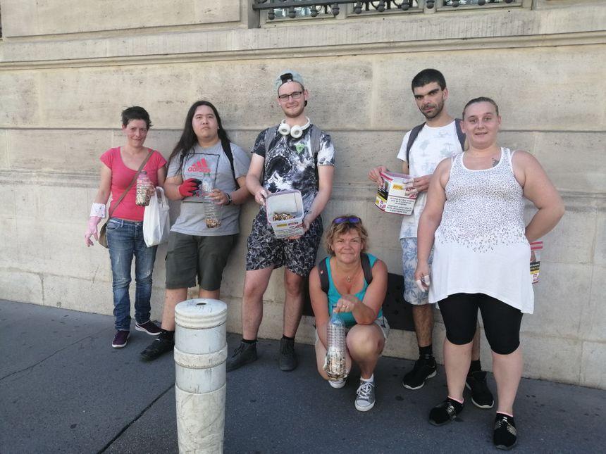 Opération de ramassage des mégots dans les rues de Nancy, le dimanche 25 août.