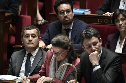 Mounir Mahjoubi et Benjamin Griveaux à l'Assemblée nationale