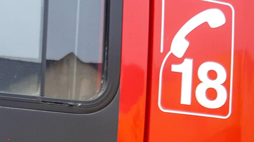 Intervention des pompiers ce lundi 26 août 2019 à La Ferté-Bernard (Sarthe) après qu'une personne a été heurtée par un train