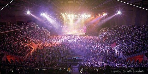 L'Arena Futuroscope accueillera des spectacles et des concerts de grands groupes internationaux.