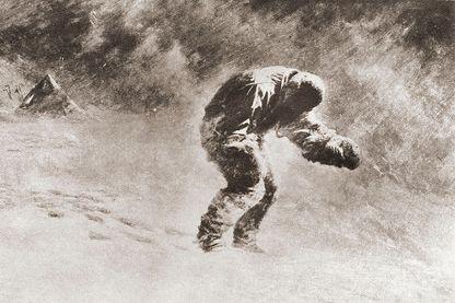 Le capitaine Lawrence Edward Grace Titus Oates, membre de l'expédition Terra Nova de Robert Falcon Scott au pôle Sud, mort dans une tempête de neige