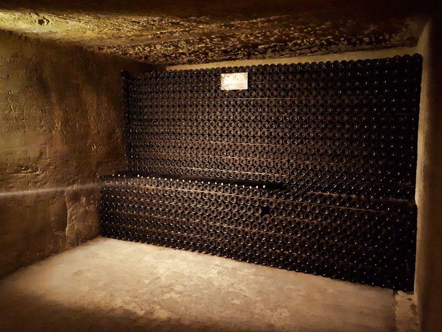 Visite de la cave souterraine du Clos des Menuts à Saint-Emilion.