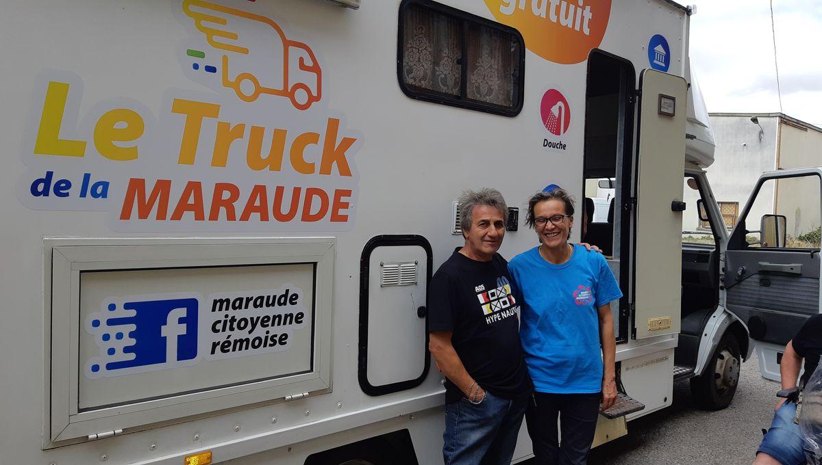 La maraude citoyenne de Reims a lancé son camion douches pour SDF