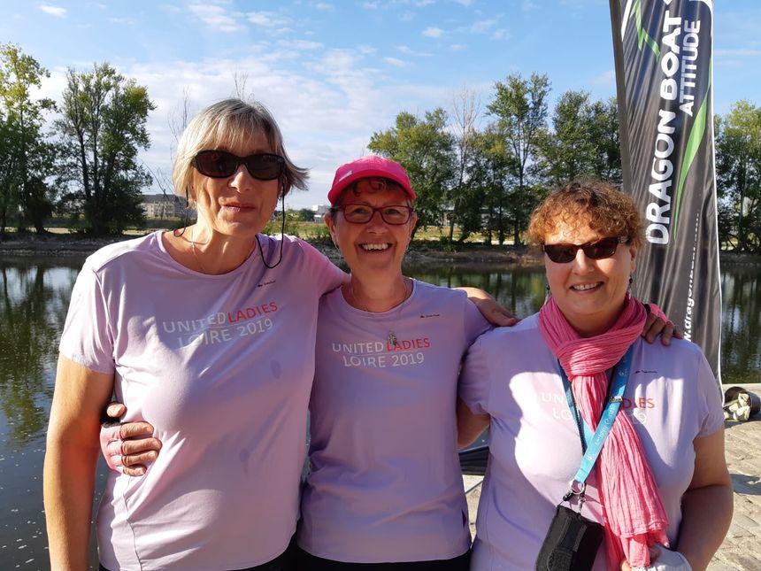 Catherine, Agnès et Lydie participent au challenge United Ladies Loire 2019