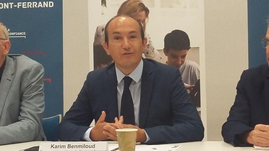Karmim Benmiloud, le nouveau recteur de l'académie de Clermont-Ferrand, lors de la conférence de presse de rentrée.
