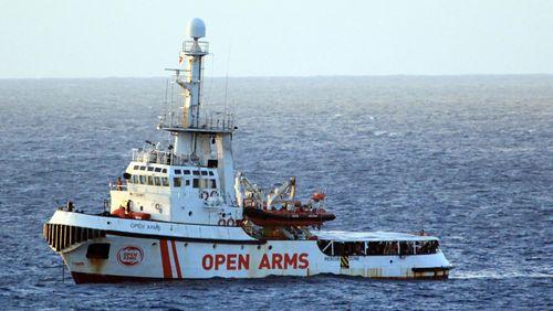 L'Open Arms en route vers Lampedusa