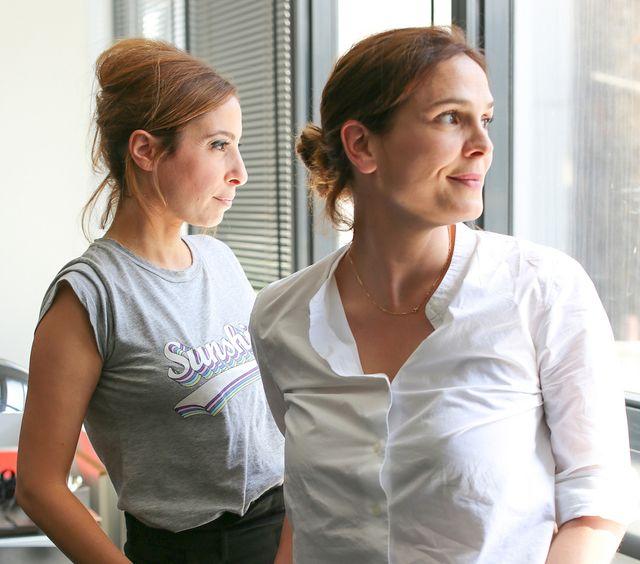 Léa Salamé et Sophie de Closets chez Fayard à l'été 2019