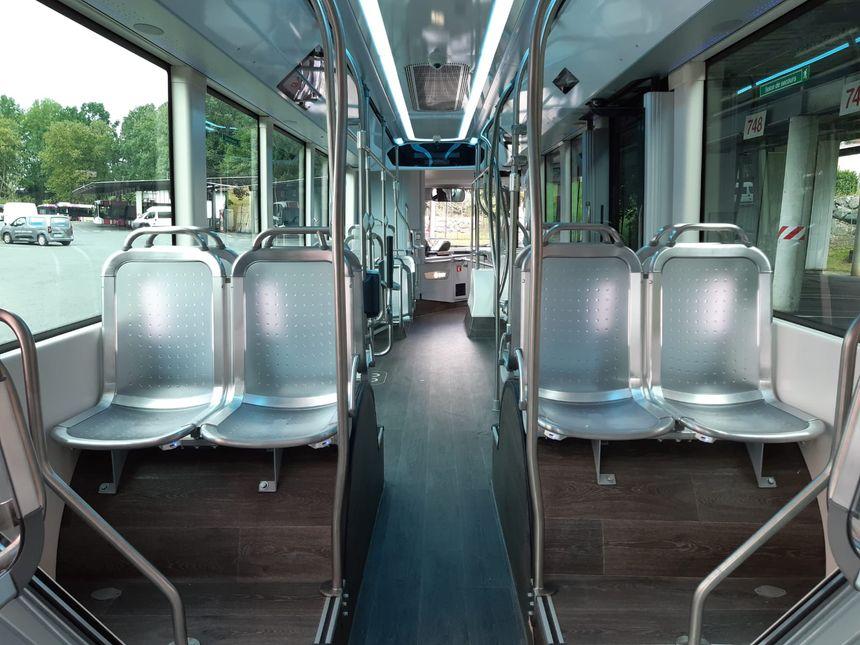 A l'intérieur d'un Tram'bus du BAB