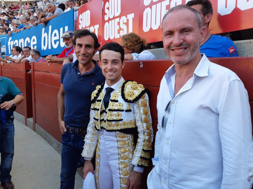 Christophe Andiné, Fernando Cruz et Juan Carlos Carballo, trio taurin