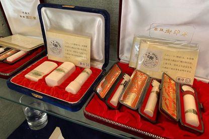 Hankos en ivoire en vente au Japon (avril 2019)