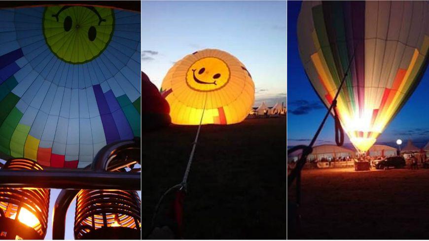 Décollage de nuit au Grand Est Mondial Air Ballons à Chambley le 31 juillet 2019.
