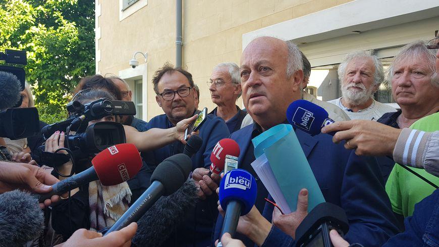 Le maire de Langouët, Daniel Cueff à l'issue de l'audience devant le tribunal administratif.