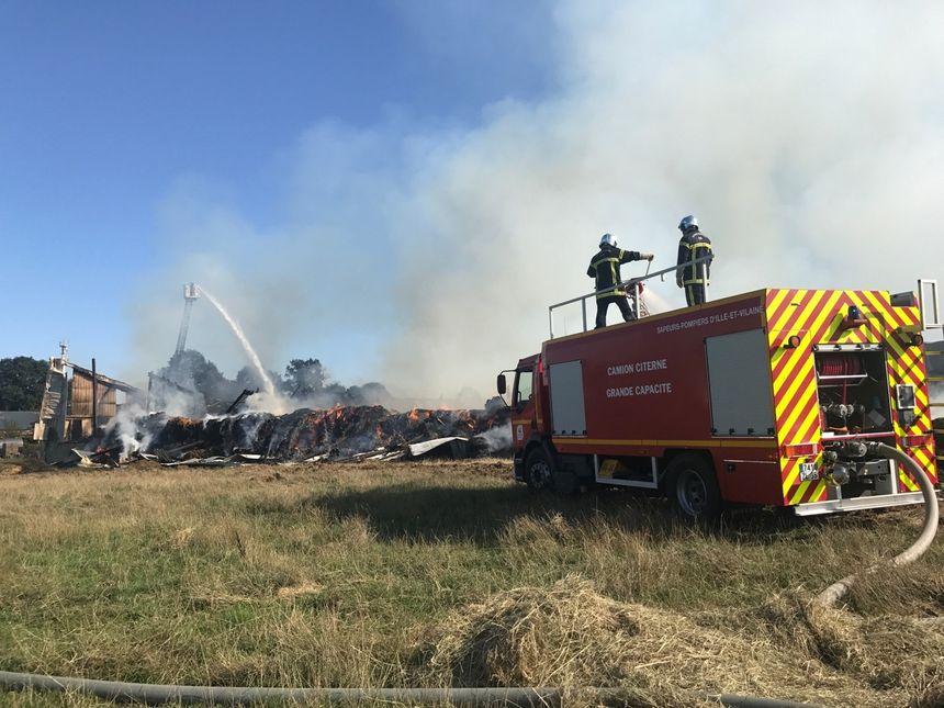 Trois pompiers ont été blessés lors de l'intervention