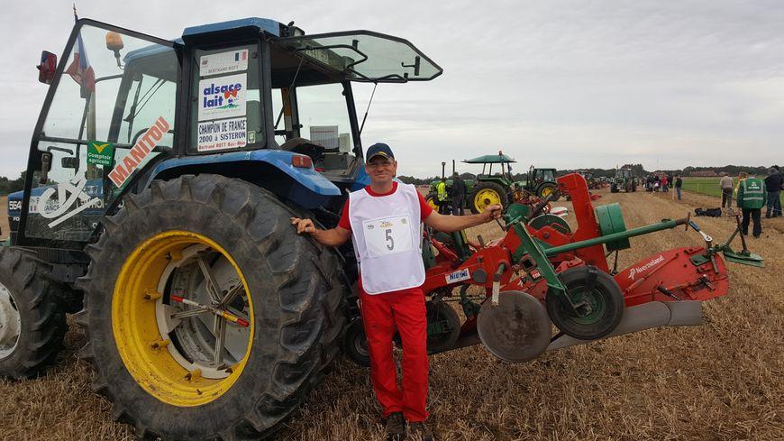 L'Alsacien Bertrand Rott en est à sa cinquième participation aux championnats du monde de labour