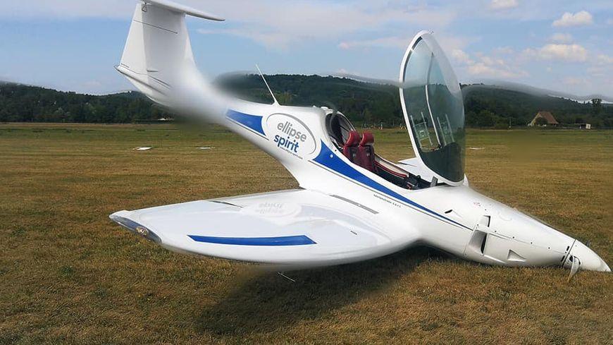 Le pilote a réussi à fair atterrir l'ULM sur le nez