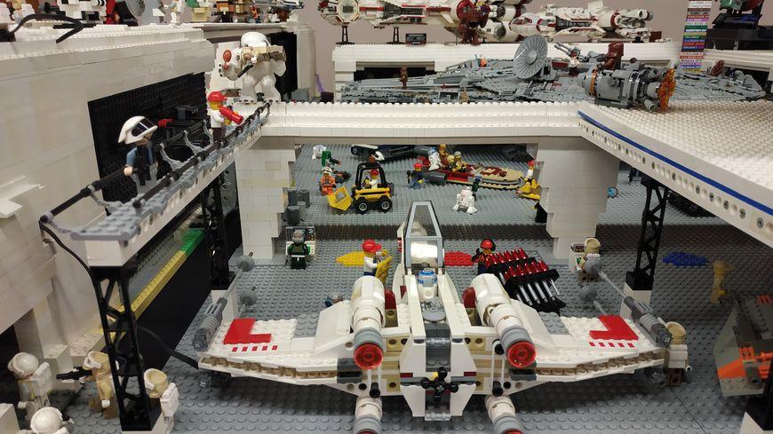 Une création de Lego dans l'univers Star Wars