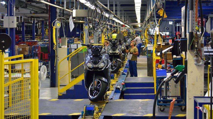 La nouvelle ligne unique de production de Peugeot Motocycle à Mandeure