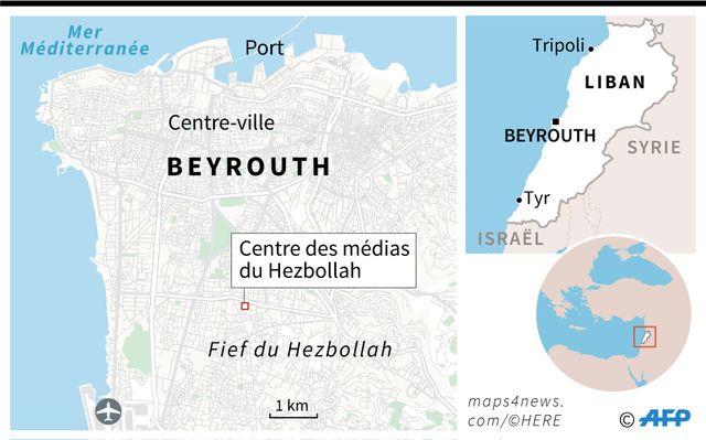 La cible de drones israéliens, le centre des médias du Hezbollah, dnas la banlieue sud de Beyrouth, fief de l'organisation chiite, soutenue par Téhéran.