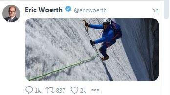 La photo publiée lundi sur Twitter par l'ancien premier ministre Eric Woerth