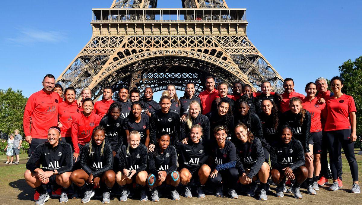 PSG : les féminines à l'assaut de la Tour Eiffel