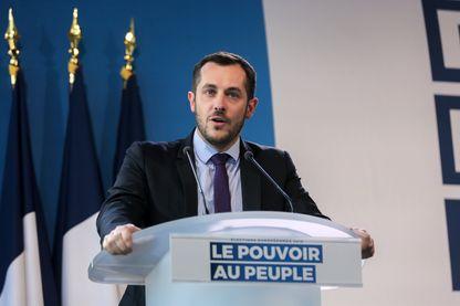 Nicolas Bay lors d'un discours à Mormant, en Seine-et-Marne, en mars 2019.