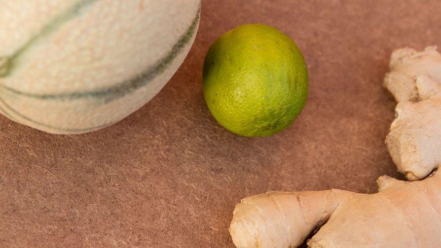 Melon et gingembre, un mariage fraîcheur.