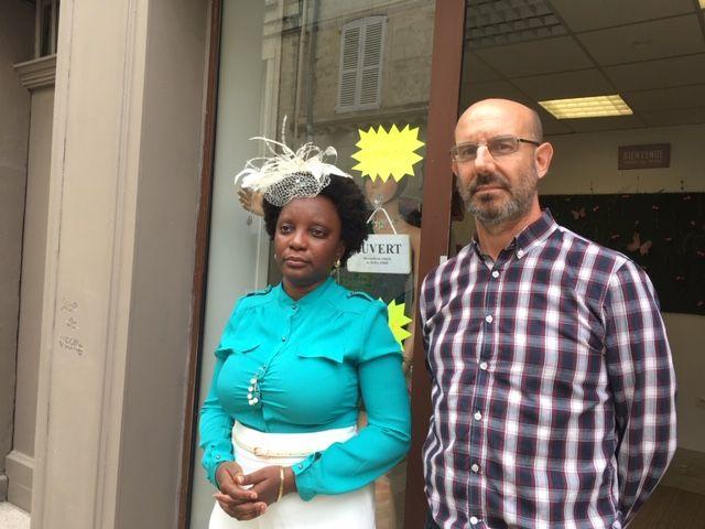 La gérante Nneka de Douhet, avec son époux Thomas de Douhet